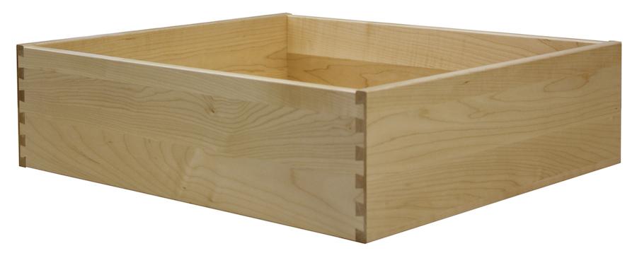 soft maple drawer